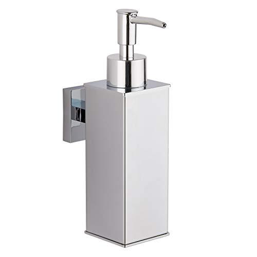 bgl - Dispenser di sapone da parete in acciaio inox 304, per decorazione domestica, colore: Cromo