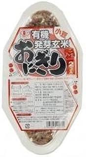 コジマフーズ 有機発芽玄米おにぎり 小豆 90g×2個入 ※12個セット ※保存用 ※有機JAS認定 ※海の精