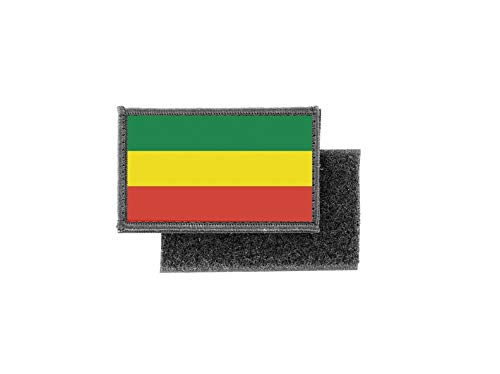 Aufnäher patch aufbügler gedruckt flagge fahne rasta athiopien
