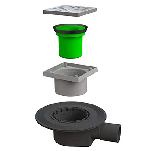 Bonomini Ventilbox Go-Go mit Gitter Edelstahl Durchmesser 40/50
