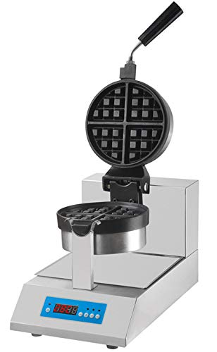 Waffeleisen Einzeln - 180C° Drehung - Digital | Waffelautomat | Waffelmaker