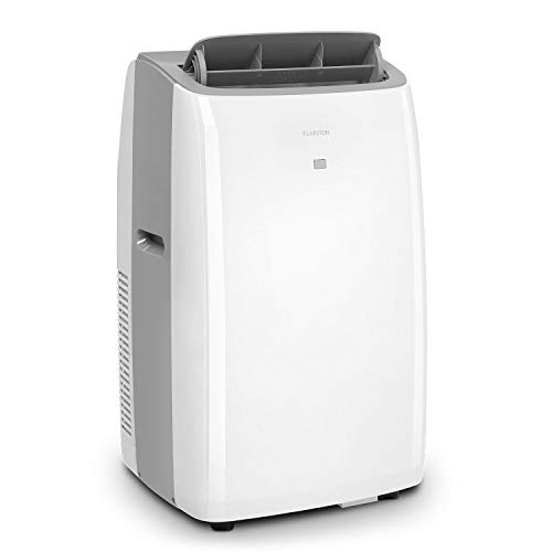 KLARSTEIN Grandbreeze Eco 12K - Climatiseur Mobile, déshumidificateur, Ventilateur, 3 Vitesses, 12000 BTU/1,35 KW, Taille de la pièce: 35 à 59 m², débit d'air 460 m³/h,CEE A+ - Blanc
