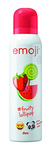 Emoji Deo Spray Fruity Lollipop – Veganes Deo ohne Aluminium für 24 h Schutz vor Körpergeruch – 6er Pack (6 x 150 ml)