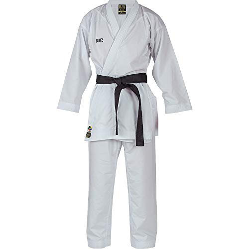 Blitz Shuhari WKF Approved Karate-Anzug, weiß, 5/180 cm