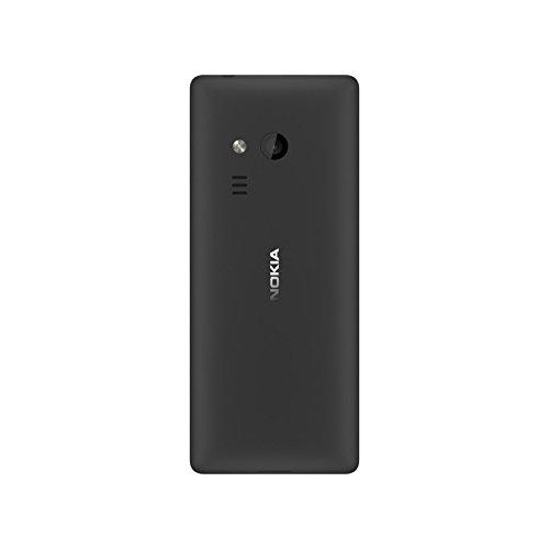 Nokia 216 - Téléphone portable débloqué GSM (Ecran 2,4 pouces, ROM 16Mo + jusqu'à 32Go via carte SD, Single SIM) Noir