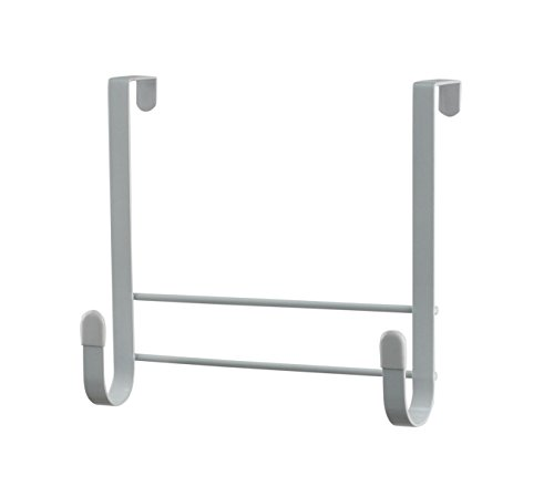 Spectrum Diversified Over-the-Door Ironing Board Holder, No-Installation Ironing Board Storage, Sturdy Steel Construction With Rubberized Hook Ends for Closet & Organization, White, Small (66500)