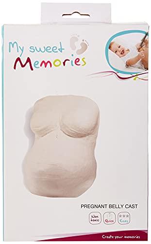 My Sweet Memories ES Pregnant Belly Cast - Set de modelado, color blanco