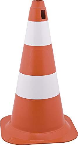 Cone de Sinalização com 50 cm, Branco e Laranja, em Polietileno, Vonder VDO2291
