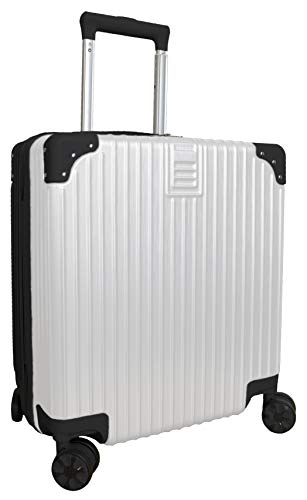 Hard Shell Lightweight Cabin Size Suitcase Carry On Luggage (Black&White)