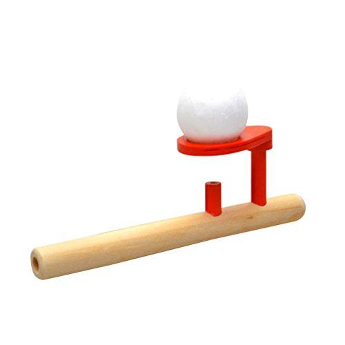 STOBOK Juegos de Madera clásicos Que flotan Bolas del Tubo de Soplo Balance Que soplan Juguetes Diversión Stress Reliever para los niños Niños Toddler