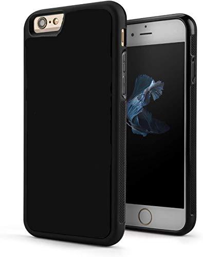 Entucesta Carcasa Protectora antigravedad para iPhone 6 Plus, 6S Plus, de 5.5 Pulgadas de Doble función diseñada para Proteger tu teléfono y para pegarla a Superficies Lisas. (Negro)