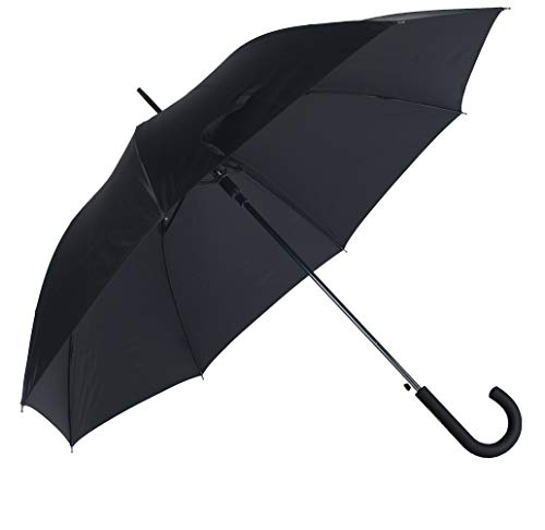 SAMSONITE Rain Pro - Stick Umbrella Auto Open Ombrello Classico, 87 centimeters, Nero (Black)