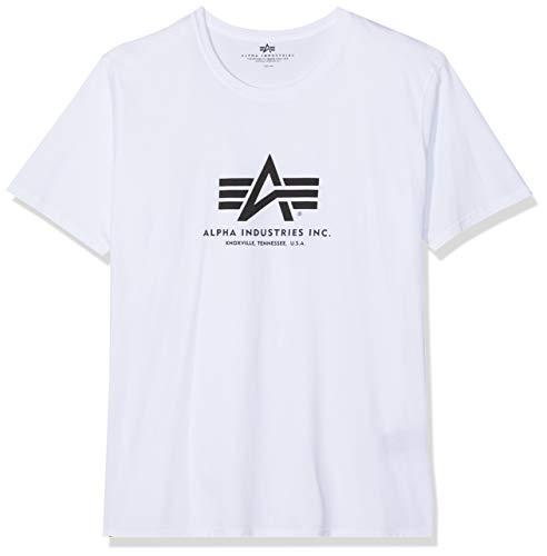 Alpha Industries 100501, T-shirt, Uomo, Bianco (white), XL