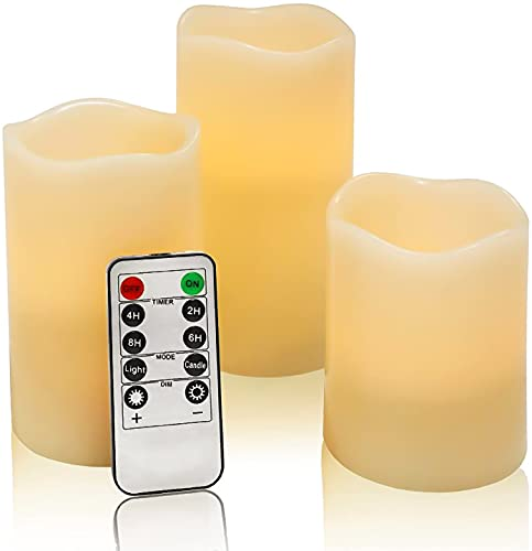 VETOUR Battery Operated Candle Remote Control Flameless LED Electric Set of...