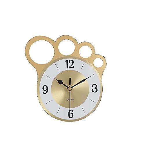 Despertador Reloj De Escritorio Dorado Mudo, Adornos Decorativos para Dedos Personalizados, Reloj De Escritorio De Mesa De Hierro Nórdico Moderno Y Simple