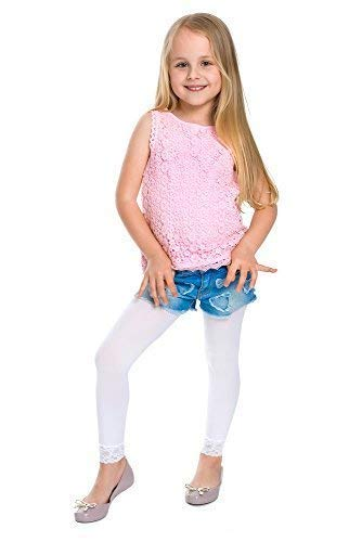 Hoi Moeder Meisjes Nieuwe Witte Leggings Leuke Kant Kids Ballet Dans Dames 70 Den Panty 1-13 Jaar 6011