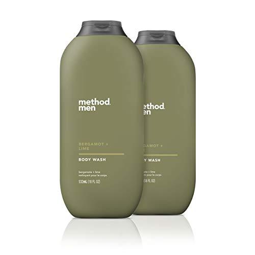 Method Men Body Wash, Bergamot + Lime, 18 Fl Oz, Pack of 2