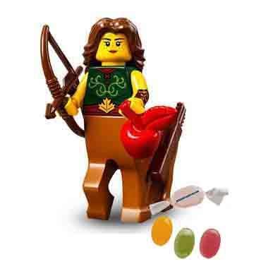 Lego® 71029 Minifiguren Serie 21 Figur Nr 6 Zentaur-Figur zusätzlich 1 x Sticker-und-co Fruchtmix Bonbon