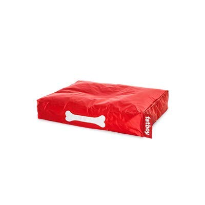 Fatboy® Doggielounge Small Nylon | Kleines Hundekissen in Rot | Abwaschbares Hundebett für kleine Hunde | 60 x 80 x 15 cm