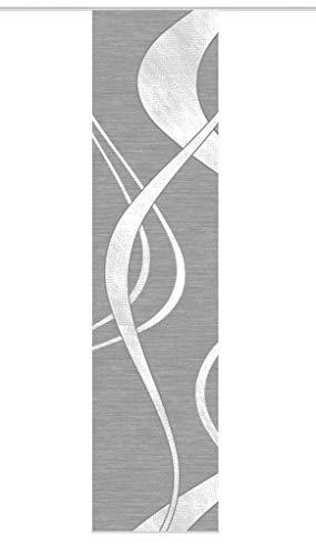 Vision S Schiebegardine TIBANO Links, halb-transparenter Stoff in Bambus-Optik, 260 x 60 cm (h x b), Farbe: (anthrazit)
