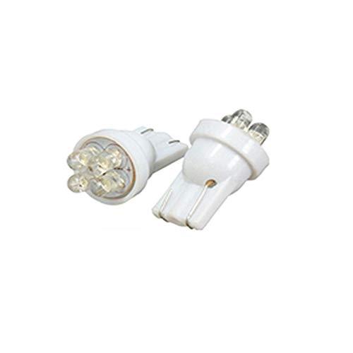 YONGYAO 2Pcs 12V Voiture 4 LED Intérieur Numéro Plaque Lampe Ampoule Lumineux Blanc