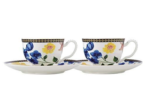 MAXWELL & WILLIAMS Demi-Vasos de café y platillos, diseño de Contessa, Porcelana,...