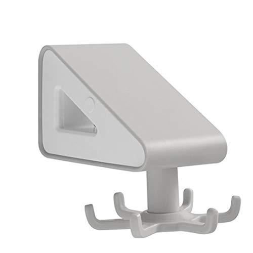 ANNI DESIGNER Toallero de papel autoadhesivo, toallero de pared, multifuncional, con gancho, para baño y cocina