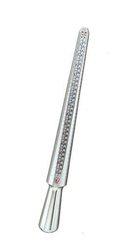 Barra de aluminio para medir el tamaño del anillo que se aplica a Hong Kong, Estados Unidos, Europa y Japón en cuatro tamaños