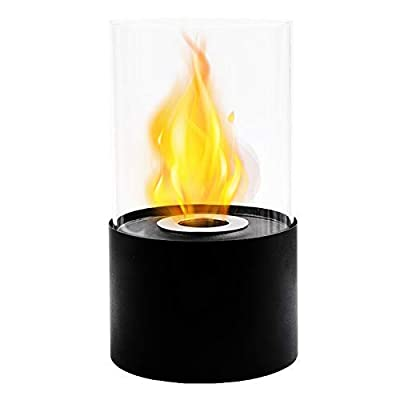 JHY DESIGN Tabletop Fire Bowl Pot Indoor/Outdoor Portable Tabletop Fireplace–Clean-Burning Bio Ethanol Ventless Fireplace