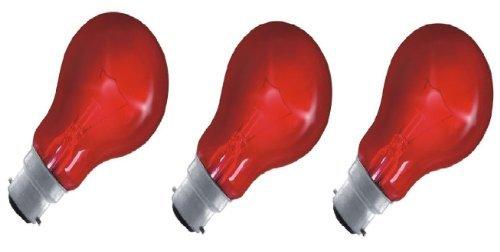 Eveready Leuchtmittel mit Flammeneffekt, BC B22 B22d, Bajonettsockel, mit rotem Glüh-Effekt, GLS, 150lm, 40W, 240V, 3Stück
