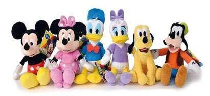 PTS Topolino Set Composto da 6 Peluche, (Uno per Ogni Personaggio del Cartone), Originale Walt Disney, Dimensioni 20cm, Un Singolo Set di 6 Peluche.