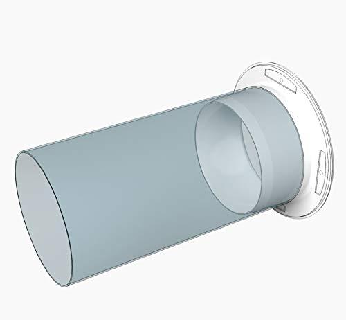 brida de pared de 125 mm de diámetro, tubo de ventilación, brida de conexión: Amazon.es: Bricolaje y herramientas