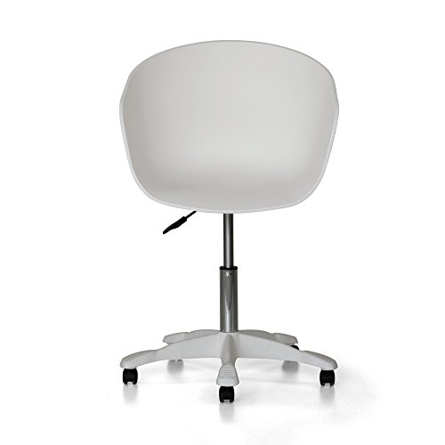 Tuoni Adrianne Sessel, 2er-Set aus Polypropylen, Büro/Studio/Wartezimmer, Weiß, 57 x 49,5 x 80,5 cm