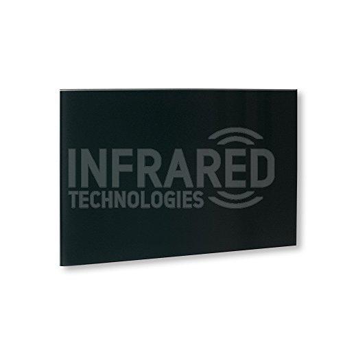 Nfrared - Panel calefactor de cristal (90 x 60 cm, 500 W, cubre hasta 14 m2, sin marco, infrarrojos, color negro)