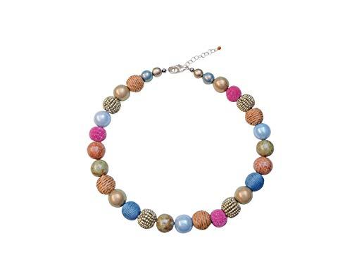 Feliss Kette Damen Halsketten für Frauen Bunte Perlenkette ohne Anhänger 45 cm lang Schmuck Geschenk für Freundin Mutter Geburtstagsgeschenk Ideen Necklace Ketten für Sie Geschenkideen Damenkette