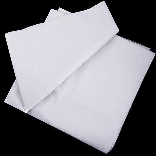 Tela de Entretela Fusible Tela de Entretela de Plancha Ligera No Tejida para Manualidades de Costura (Blanco, 90 cm de Ancho x 5 Metros)