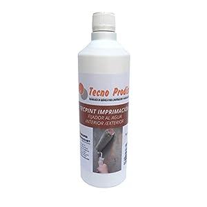 TECPINT IMPRIMACIÓN de Tecno Prodist – (1 Litro) Fijador al Agua sellante e incolora para Pintura en Exterior e Interior – Buena Calidad – (INCOLORA)