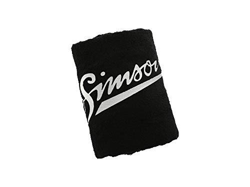 SIMSON weich Badehandtuch, schwarz, Größe: 150 x 100cm, Motiv: SIMSON - 100% Baumwolle
