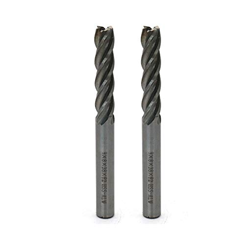 """Rannb End Milling Cutter End Mill Drill 4 Flutes 5/16""""/8mm Cutting Dia 5/16""""/8mm Shank Dia - Pack of 2"""