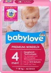 babylove Windeln Premium Gre 4, maxi 7-18kg, 1 x 42 St