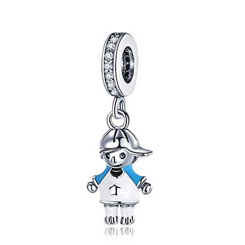 Silver Little Boy & amp;Charm de niña en forma de pulsera y brazalete originales de 3 mm Fabricación de joyas de bricolaje de moda para mujeres, CMC544