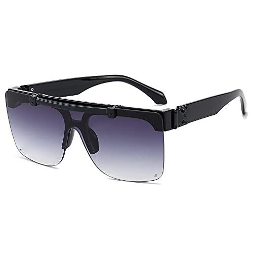 Gafas De Sol Sin Marco Tamaño medio Negro / gris doble