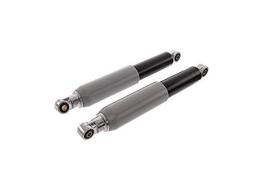 SWH Kit : Plume jambes arrière pour passager d'Exploitation, 307 mm, noir avec douille en plastique gris – sIMSON Schwalbe KR51, SR4–2 Star