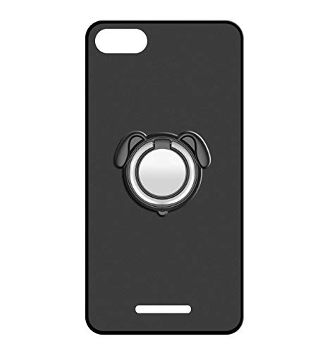 Sunrive Für Wileyfox Spark Hülle Silikon, 360°drehbarer Ständer Ring Fingerhalter Fingerhalterung Handyhülle matt Schutzhülle Etui Case (Farbe schwarz)+Gratis Universal Eingabestift MEHRWEG