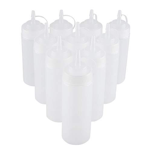 TAKE FANS 10 Unids Conjunto Dispensador De Condimentos Plásticos para Salsa De Aceite Crema De Aceite, Blanco 340 Ml