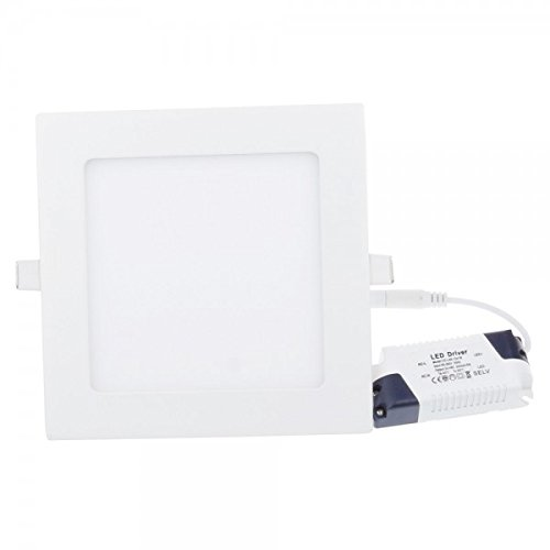 LED Panel, LED Deckenleuchte 12W Quadratisch LED PANEL 860LM + Transformator, Warmweiss 3000K 230V (12W WW)