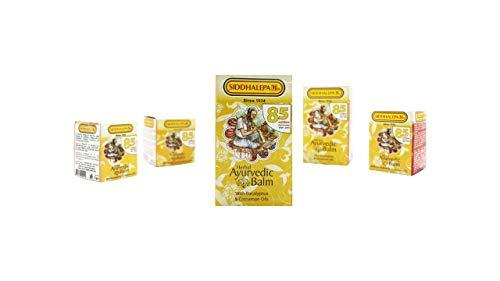 Ayurveda ayurvedische Herbal Natural Kräuterbalsam Siddhalepa Linderung von Erkältungen, Grippe, Kopfschmerzen, Zahnschmerzen, häufige Kopfschmerzen und Schmerzen 25g x2 similer to 50g