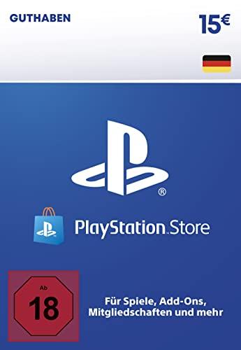 PSN Guthaben-Aufstockung   15 EUR   deutsches Konto   PS5/PS4 Download Code