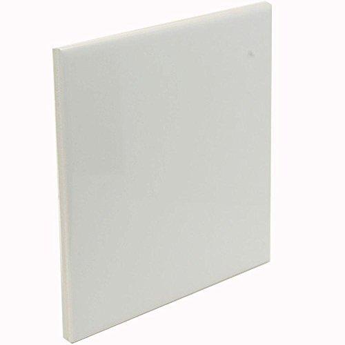 Glossy White Ceramic 6 x 6 Tile Glazed Bathroom Kitchen Backsplash Countertops Floor Decorative by Ceramic tile