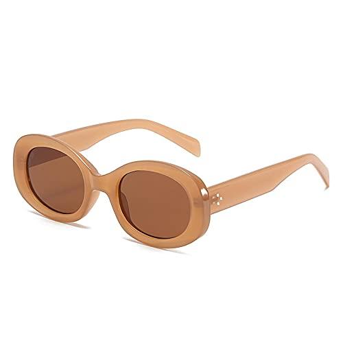 NBJSL Gafas de sol de montura pequeña a la moda para mujer Gafas de sol con protección UV para mujer Embalaje de regalo exquisito